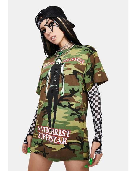 X Marilyn Manson Camo Superstar Graphic Tee