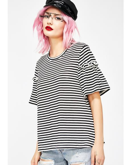 Midnight Soft Spot Striped Tee