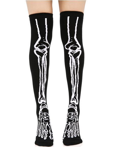 Morgue Over The Knee Socks