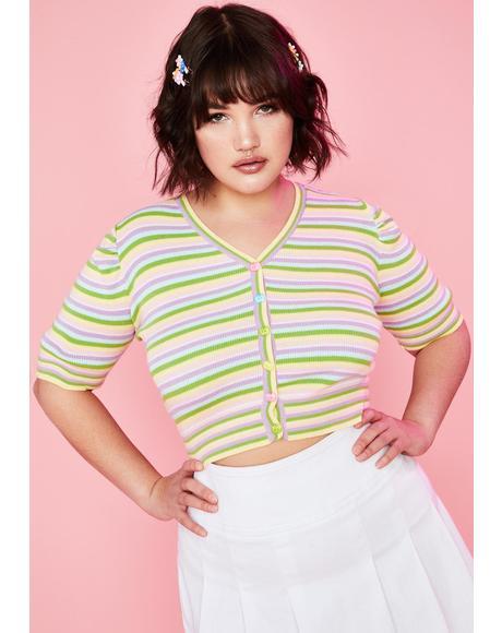 Always Homegrown Striped Cardigan
