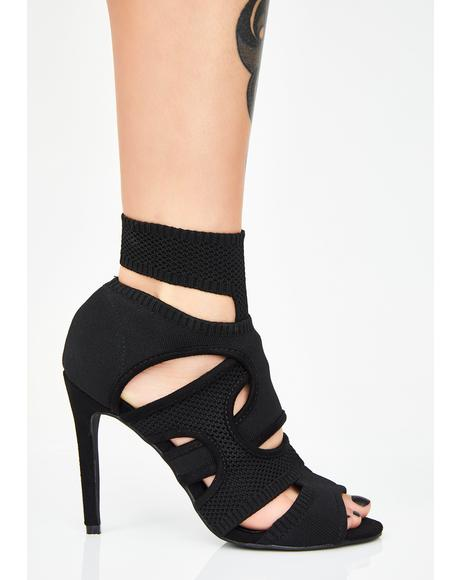 Midnight I Like You Cutout Heels