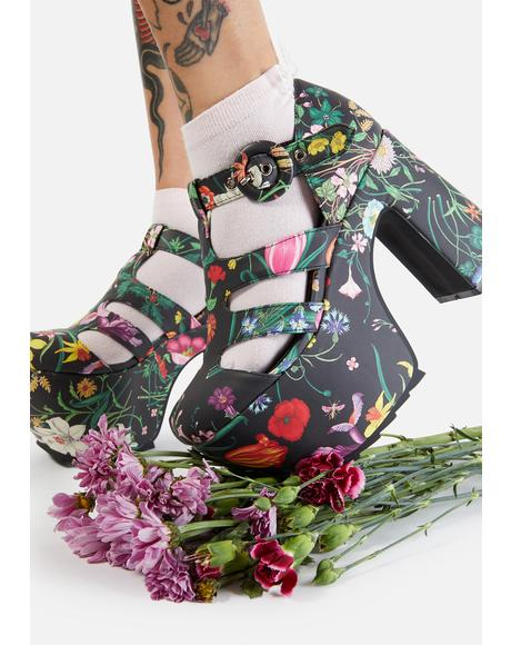 Watch Me Bloom Platform Heels