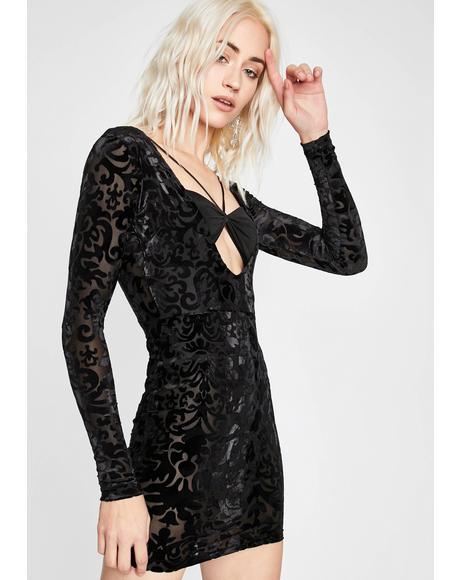 Come Closer Burnout Dress