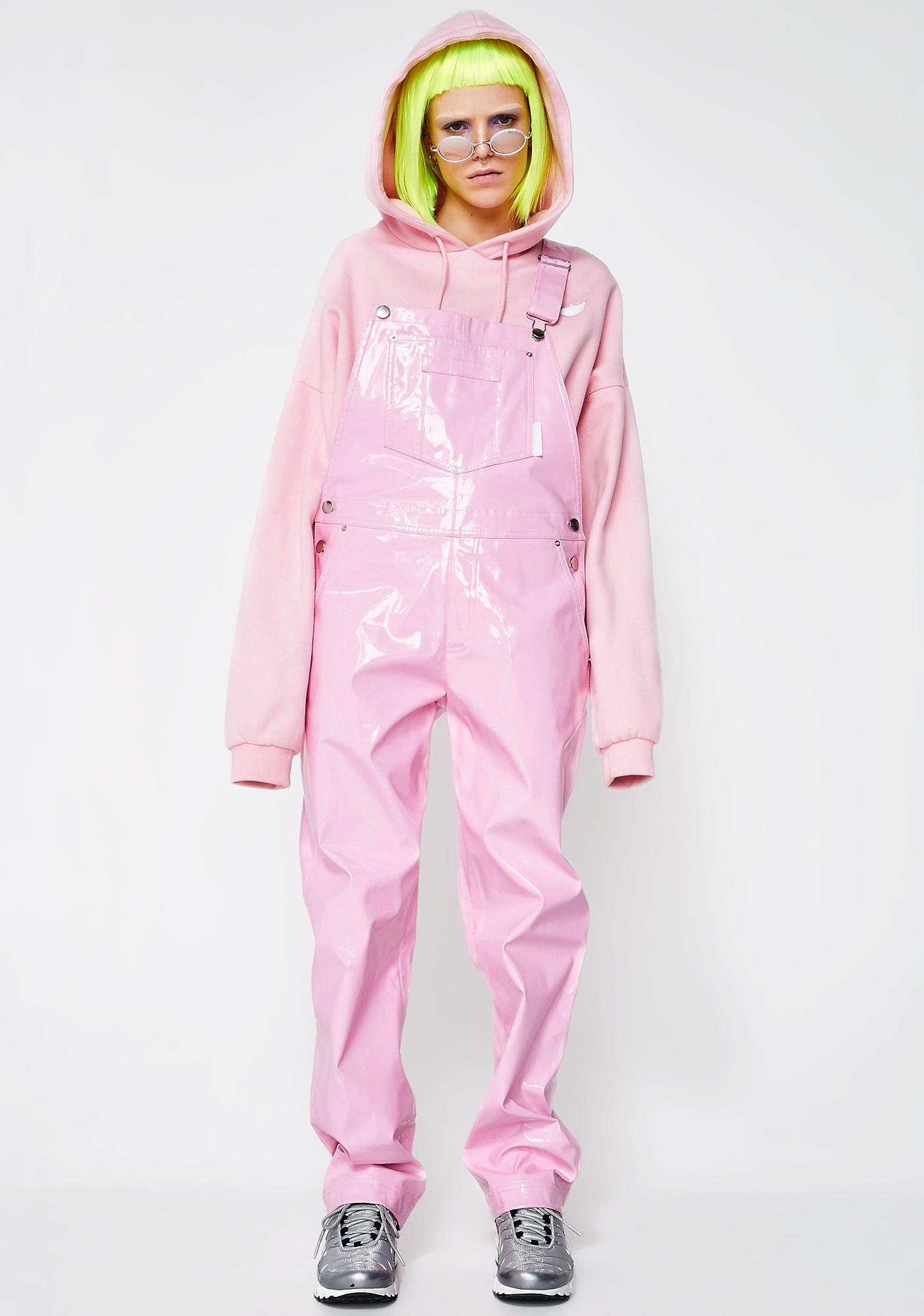 Nicopanda Pink Overalls Dolls Kill Dungarees With Hood 10