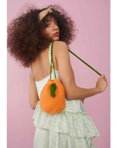 Juicy Sour Hour Crochet Lemon Bucket Bag