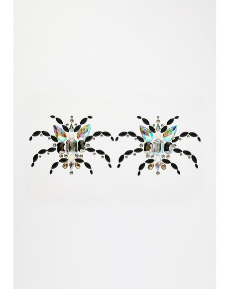 Spider Boobs Body Jewels