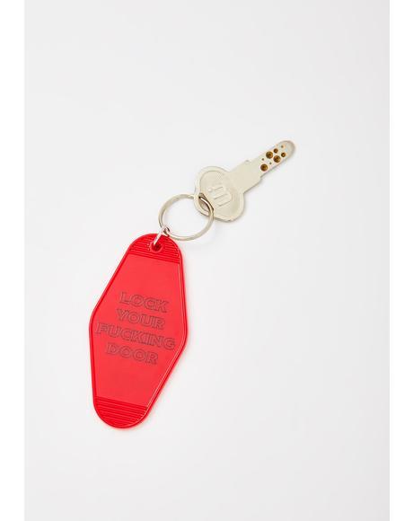 Lock Your Door Keychain