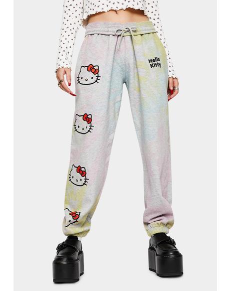 Hello Kitty Tie Dye Joggers
