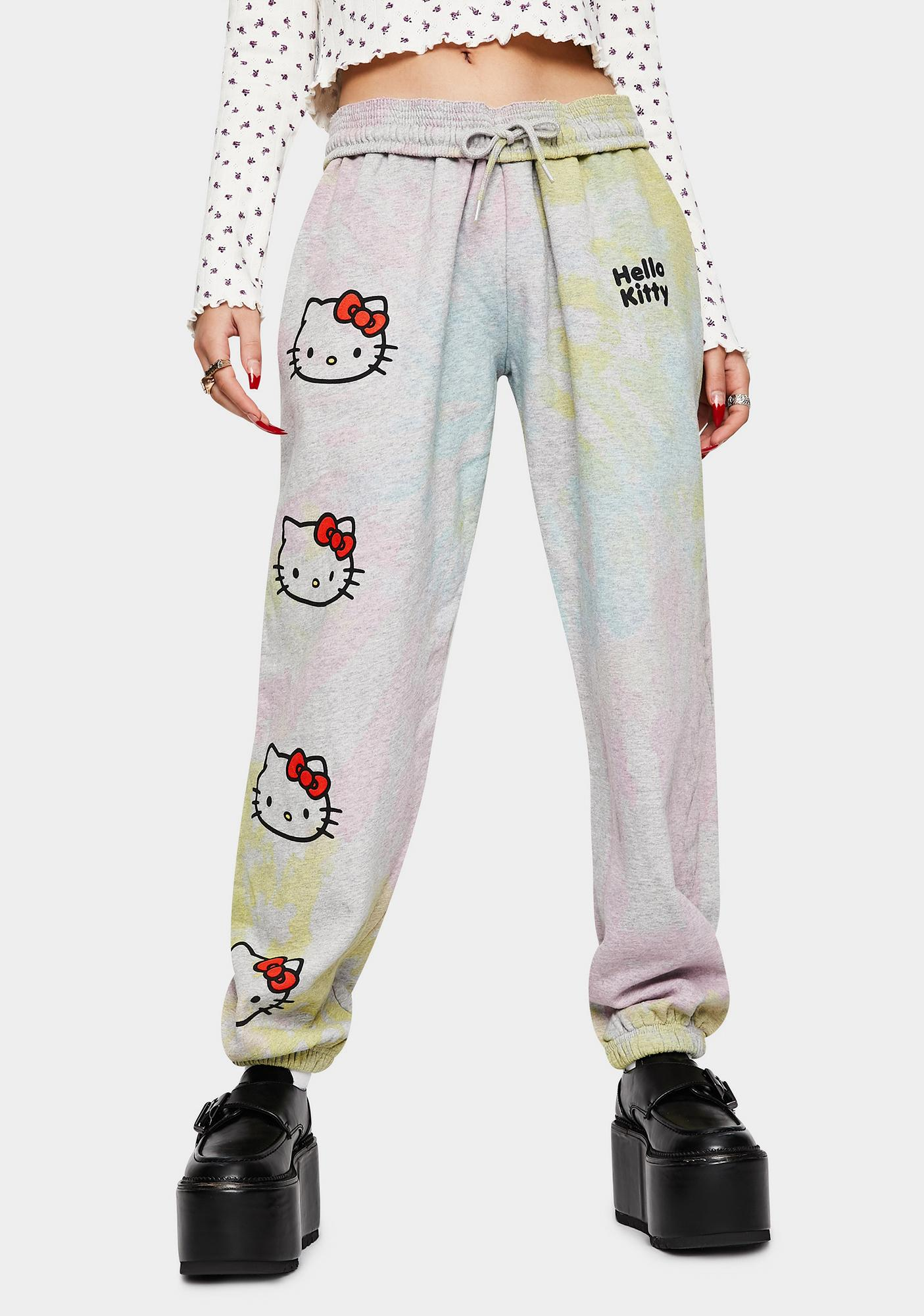 NEW GIRL ORDER Hello Kitty Tie Dye Joggers