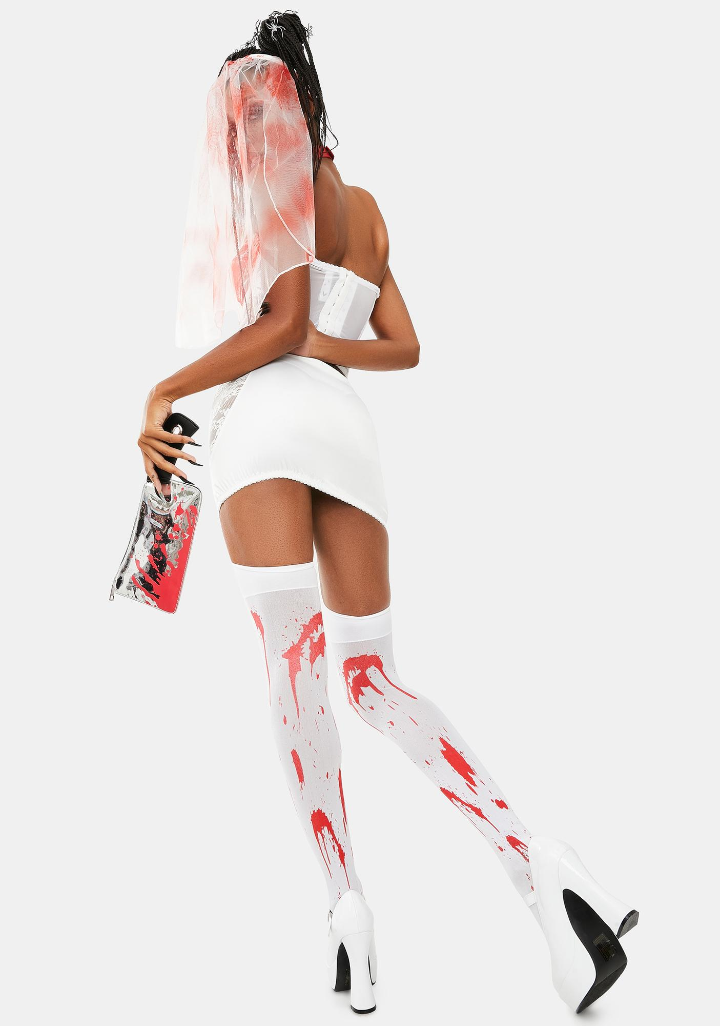 Dolls Kill Bloody Bride Costume Set