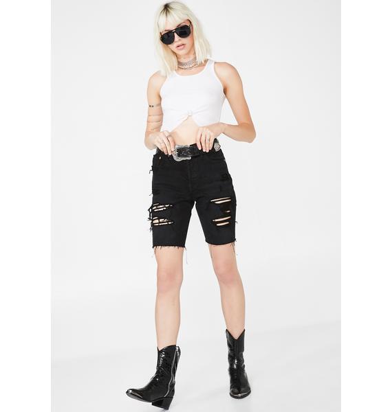 Levis Dark 501 Slouch Shorts