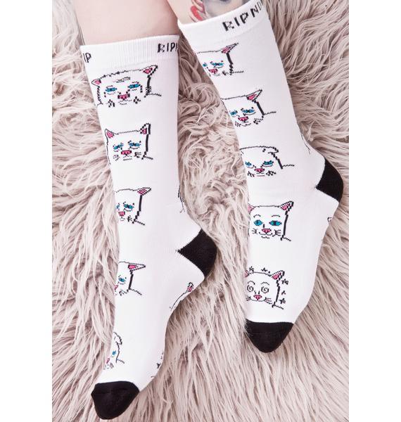 RIPNDIP Caturday Socks