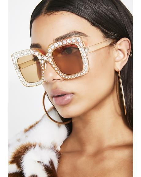 Honey Sweet Tart Oversize Sunglasses