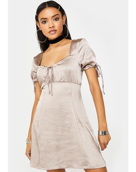Mink Guenette Satin Dress