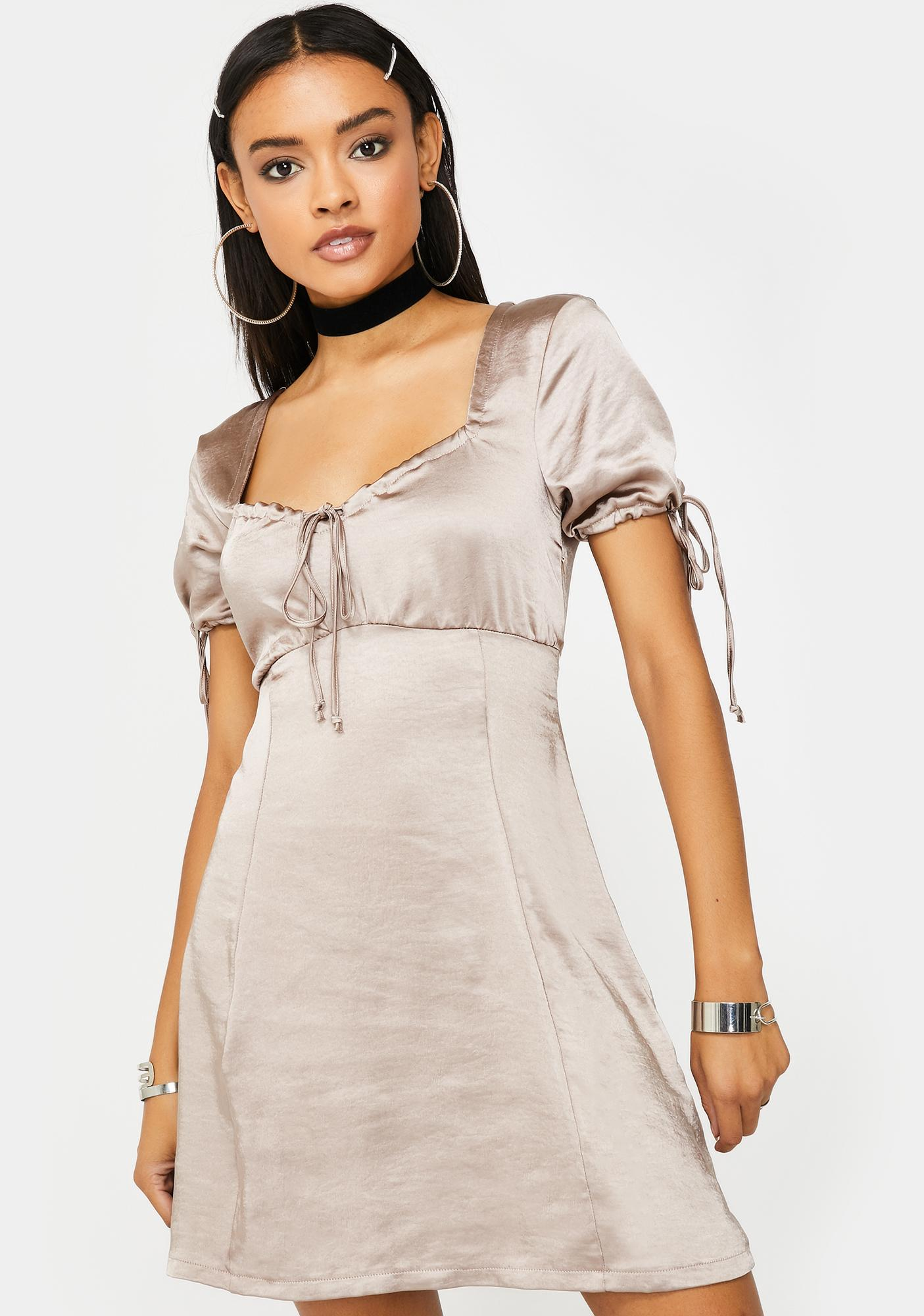 Motel Mink Guenette Satin Dress