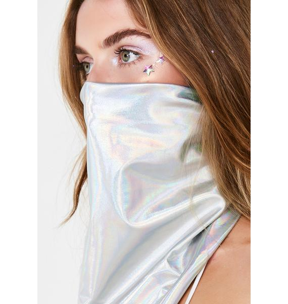 Space Cowgirl Holographic Dust Mask
