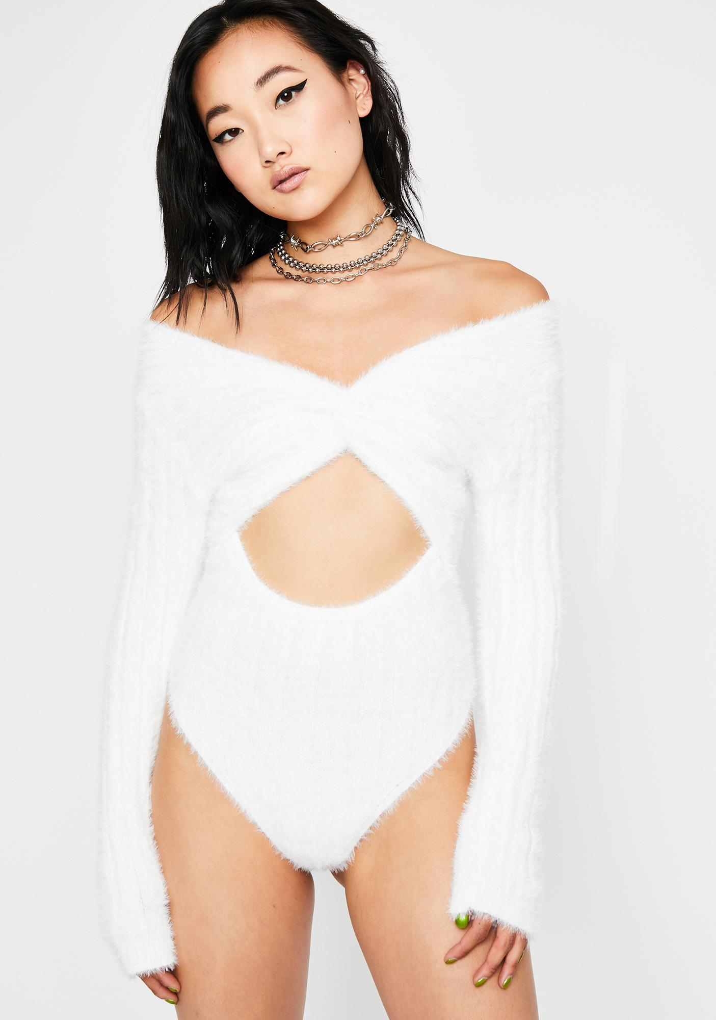 Icy Coldhearted Lover Cut Out Bodysuit