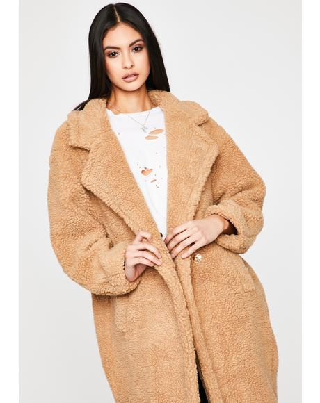 Jet Setter Lifestyle Teddy Coat