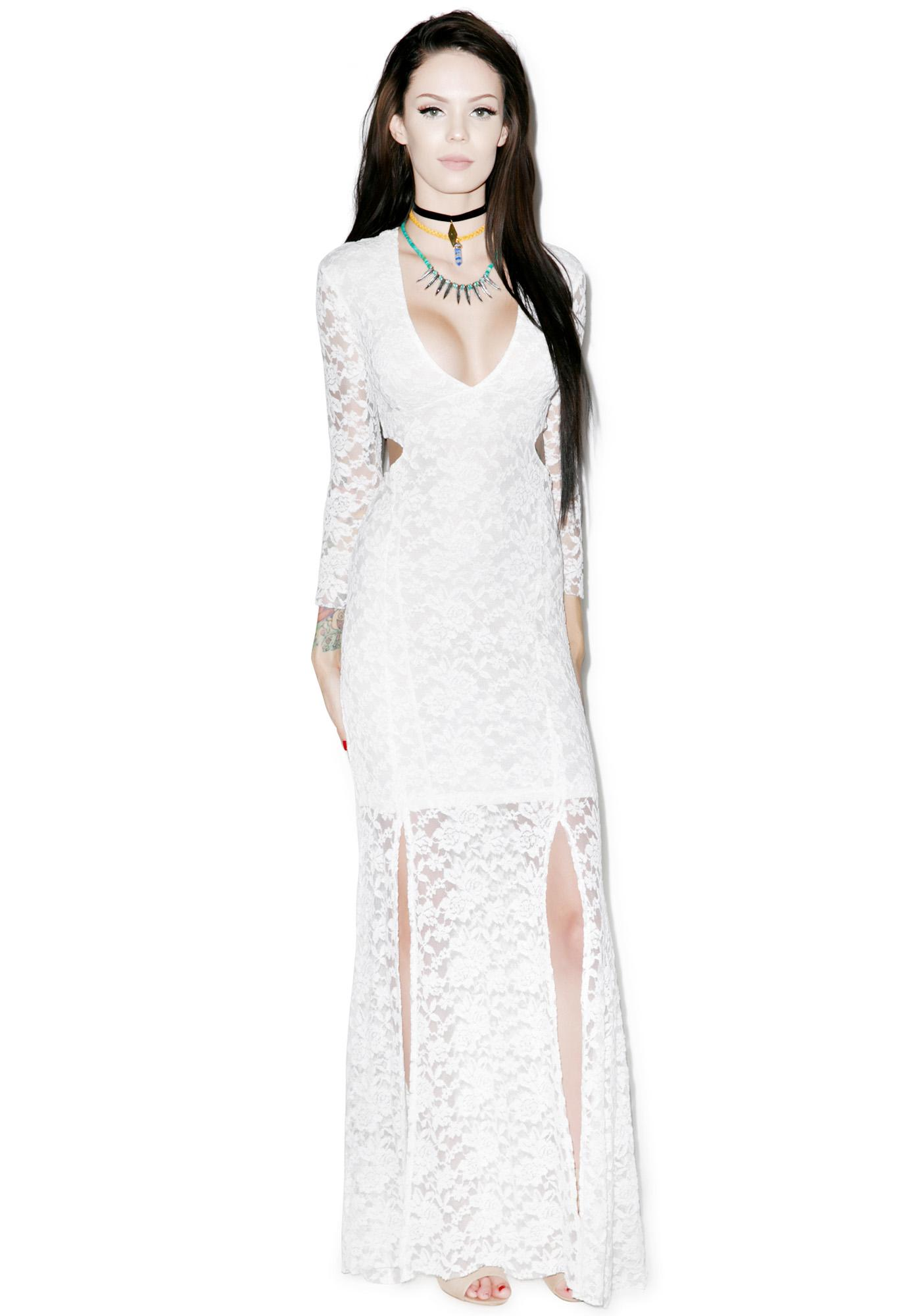 Somedays Lovin Bare Bones Lace Maxi Dress