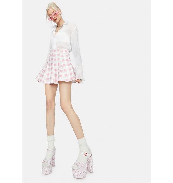 Sweet My Own Motives Plaid Mini Skirt
