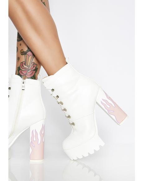 Icy Hustler Platform Boots