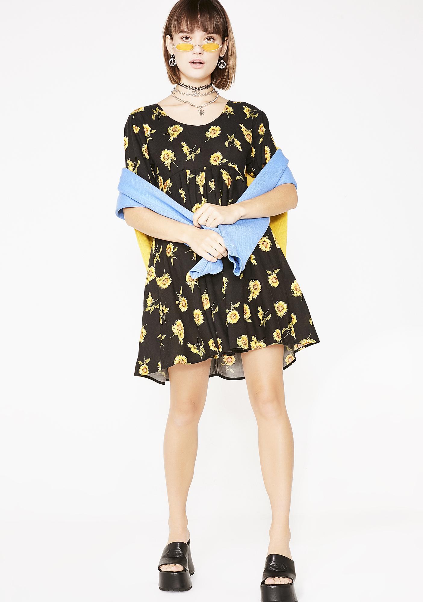 58002368c500d Delias 90s Sunflower Mini Dress | Dolls Kill