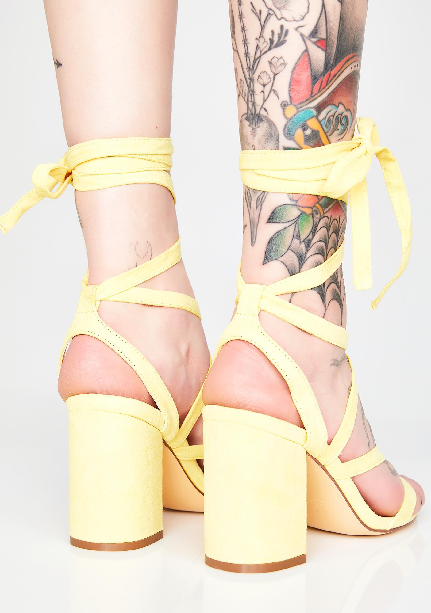 Walk My Way Wrap Heels