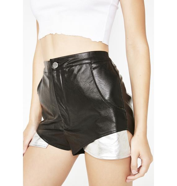 Madame Mayhem Leather Shorts