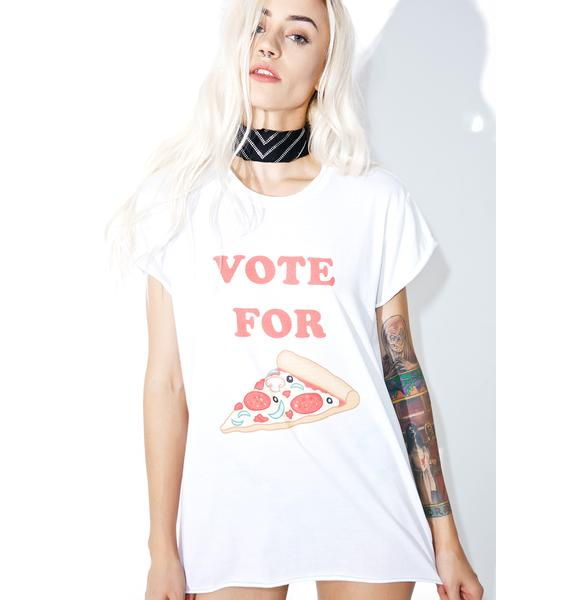 The Laundry Room Vote Pizza Rolling Tee