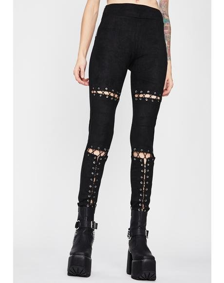 Deviant Disorder Lace Up Pants