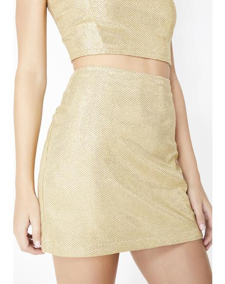 Midas Touch Mini Skirt