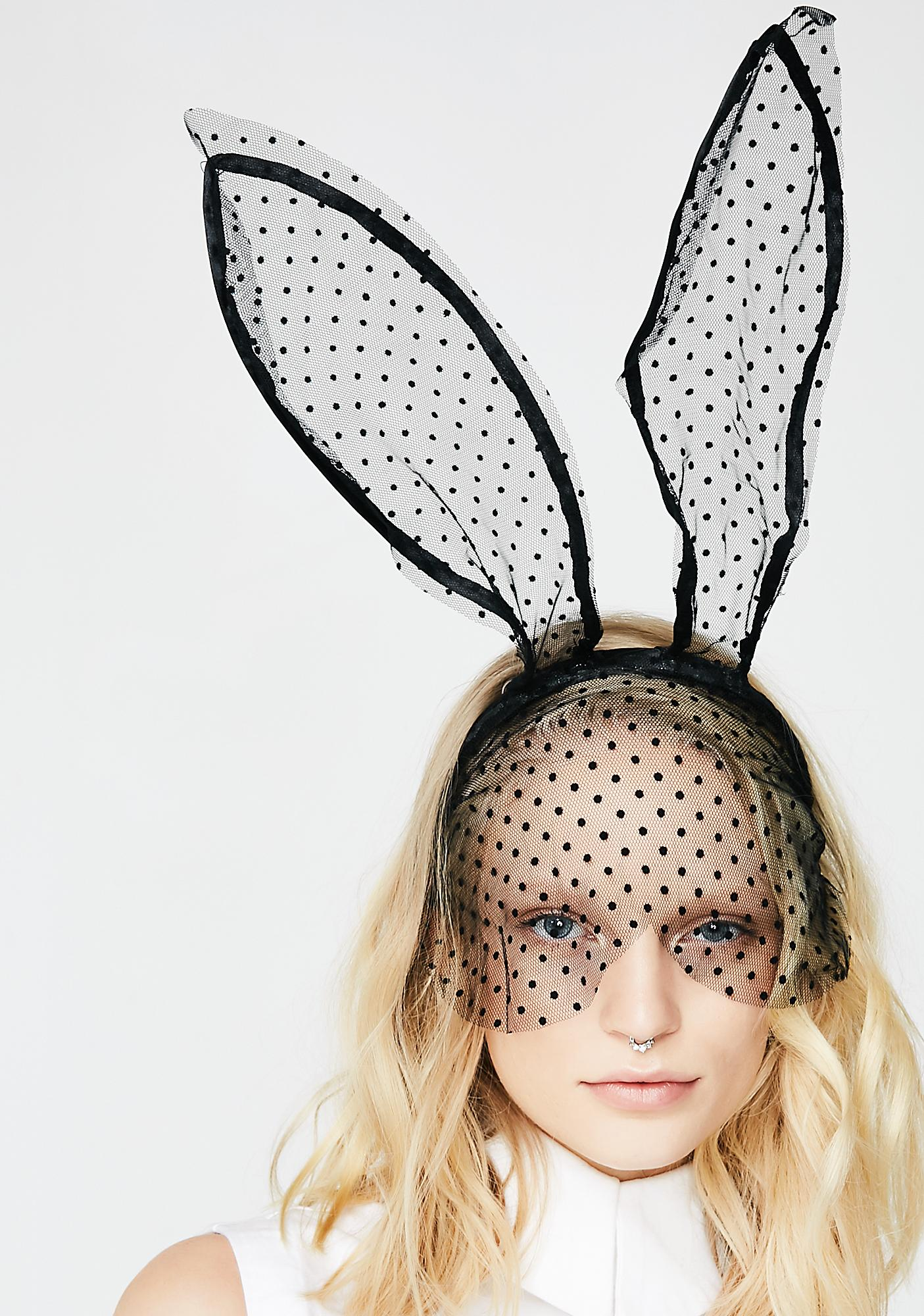 Queen Of The Mansion Bunny Ears Headband