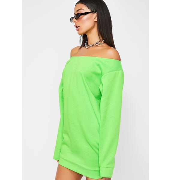 Ricki Brazil Neon Off The Shoulder Dress