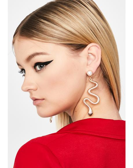 Serpent Queen Snake Earrings