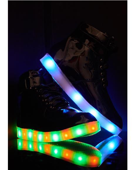 Color Craze Patent Light-Up Sneakers