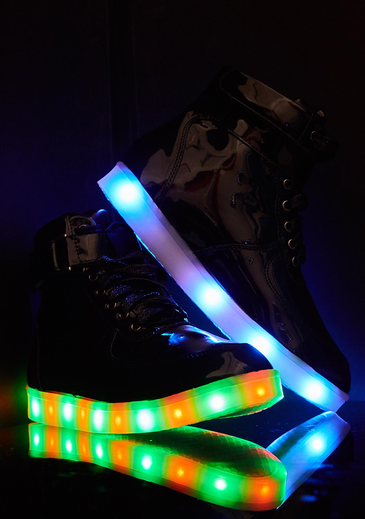 Color Craze Patent Light-Up Sneakers