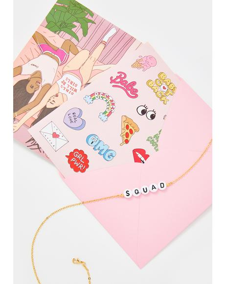 Squad Beaded Bracelet & Card Set