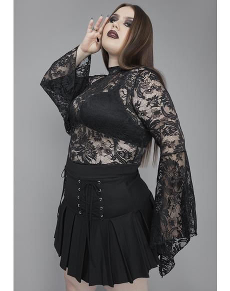 Of Grave Importance Lace Crop Top