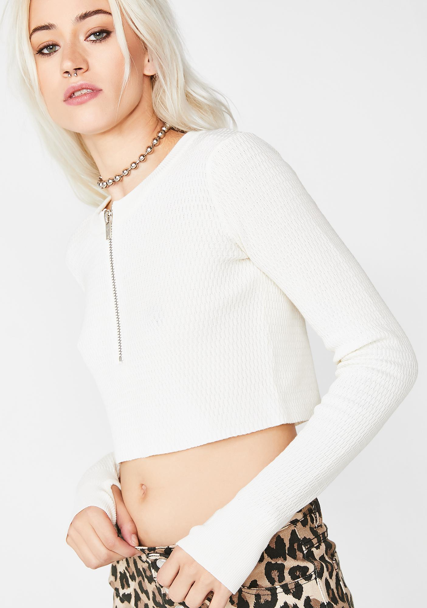 Current Mood Detention Slip Crop Top