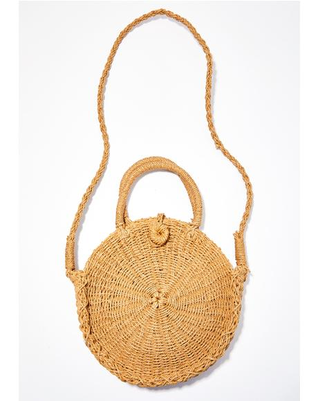 Bush Baby Straw Crossbody