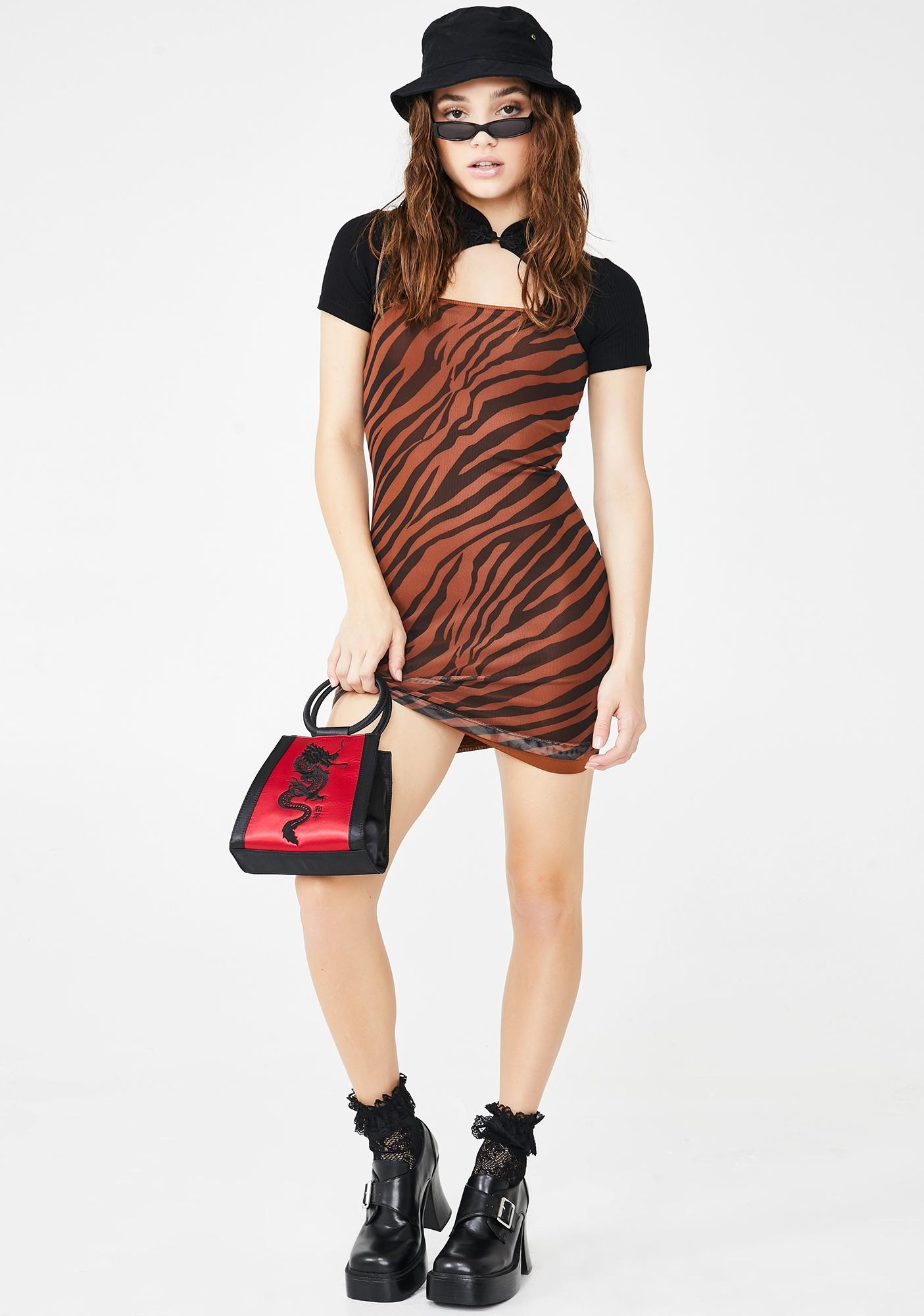 Wild Bae Zebra Mini Dress