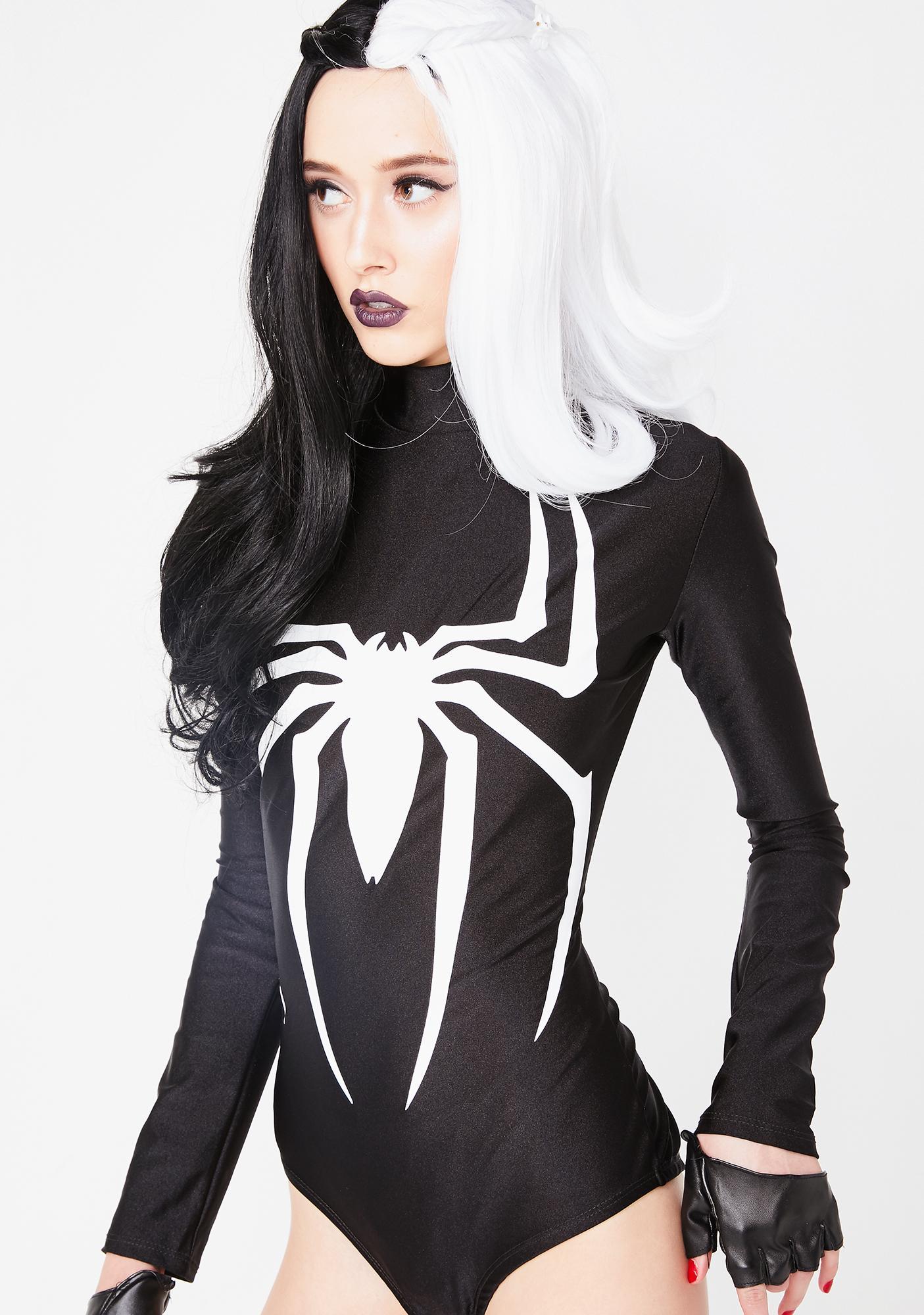 c359ab8c3907 Spider Long Sleeve Bodysuit Costume   Dolls Kill
