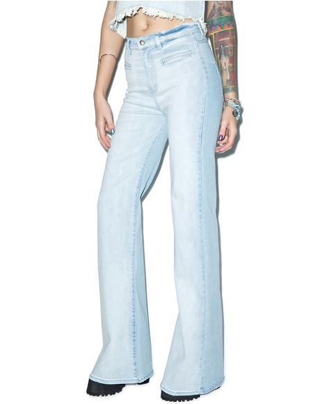 Daze Stretch Denim Flares