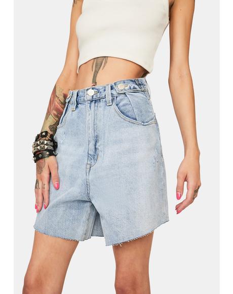 Hi & Loose Denim Shorts