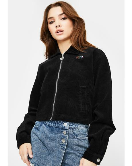 Back To Reality Cropped Jacket