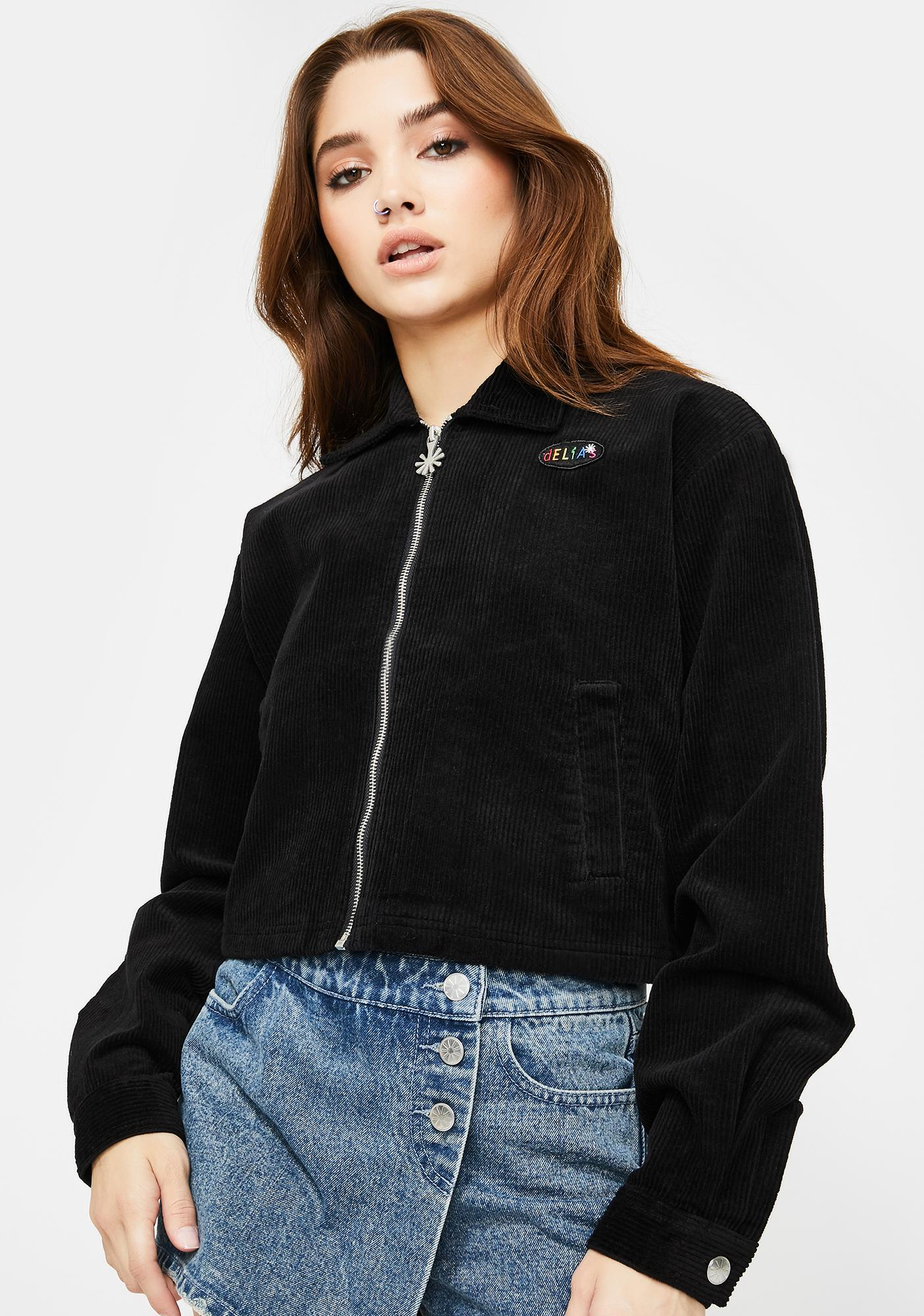 dELiA*s by Dolls Kill Back To Reality Cropped Jacket