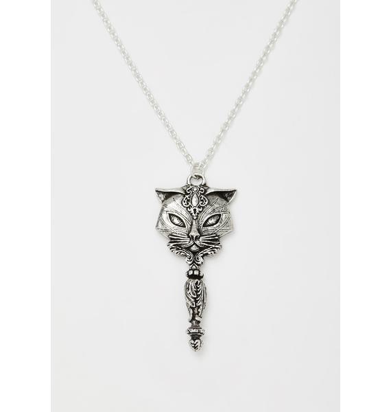 Alchemy England Sacred Cat Vanitas Pendant Necklace