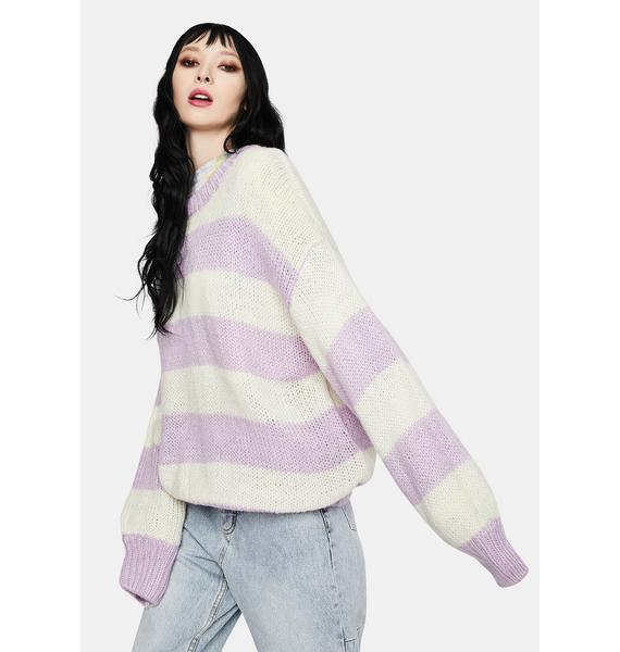 Bailey Rose Lavender Stripe Knit Sweater
