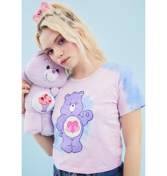 Dolls Kill x Care Bears Peace Love Harmony Crop Tee