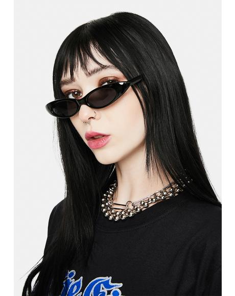 Carolina Black Cat Eye Sunglasses